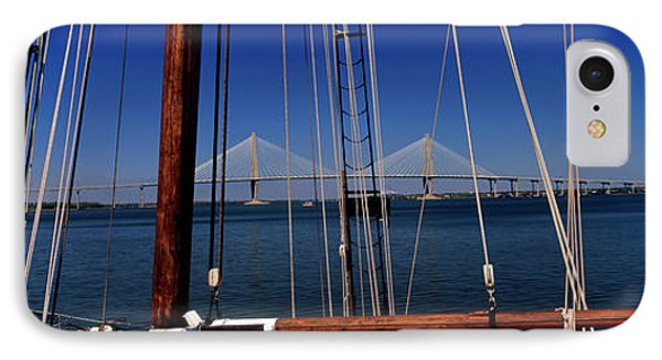 Sailing Ship With Bridge IPhone Case