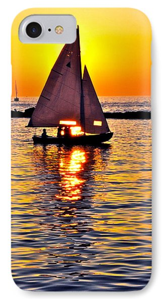 Sailing Silhouette Phone Case by Frozen in Time Fine Art Photography