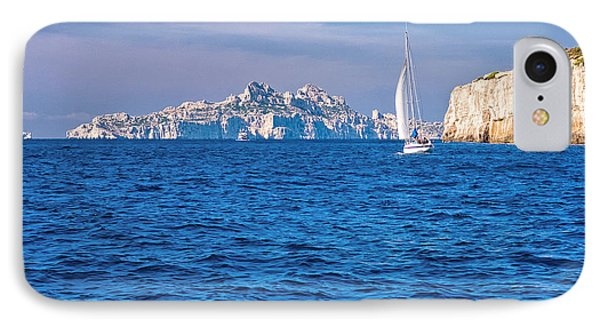 Sailing South Of France IPhone Case by Joan Herwig