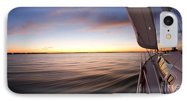Sailing Sunset Beneteau 49 Sailboat IPhone Case by Dustin K Ryan