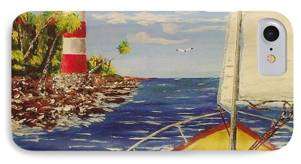 Sailing The Coast IPhone Case by Mike Caitham