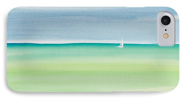 Sailing The Keys Watercolor Painting IPhone Case by Michelle Wiarda
