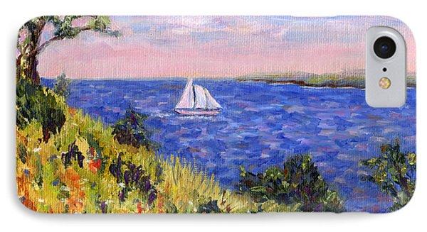 Sailing Through Belfast Maine Phone Case by Pamela Parsons
