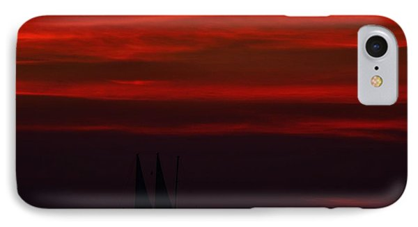 Sailing Through The After Glow IPhone Case by Richard Zentner