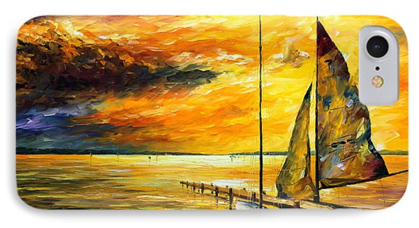 Sailing To The Future - New IPhone Case by Leonid Afremov
