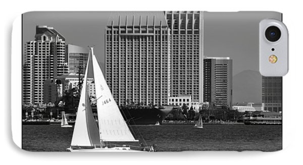 IPhone Case featuring the digital art Sailing To Work by Kirt Tisdale