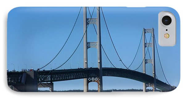 IPhone Case featuring the photograph Sailing Under Mighty Mac by Bill Woodstock