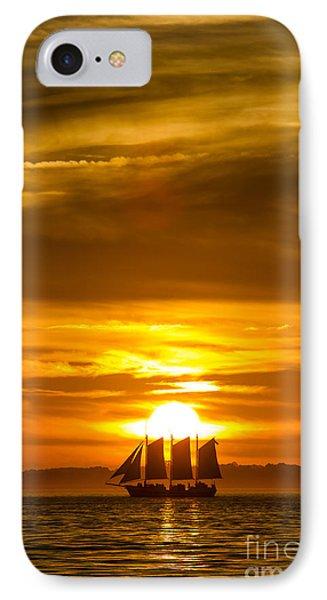 Sailing Yacht Schooner Pride Sunset Phone Case by Dustin K Ryan