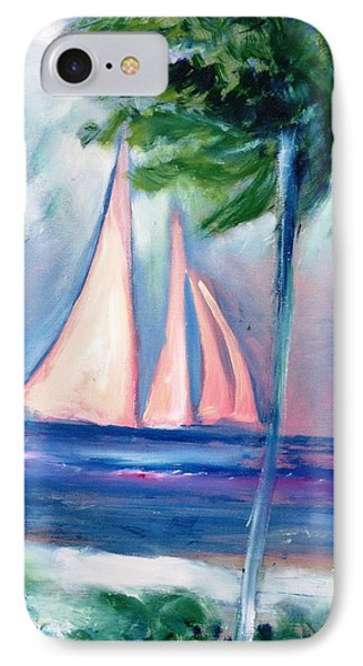 Sails In The Sunset Phone Case by Patricia Taylor