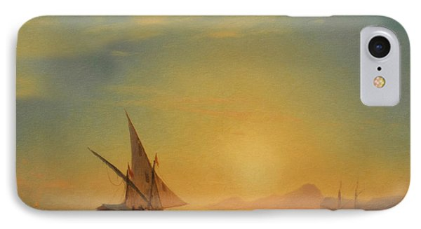 Sails In The Sunset IPhone Case by Georgiana Romanovna