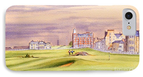 Saint Andrews Golf Course Scotland - 17th Green IPhone Case by Bill Holkham