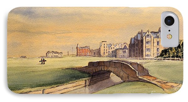 Saint Andrews Golf Course Scotland - 18th Hole IPhone Case by Bill Holkham