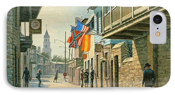 Saint Augustine Street   Phone Case by Paul Krapf