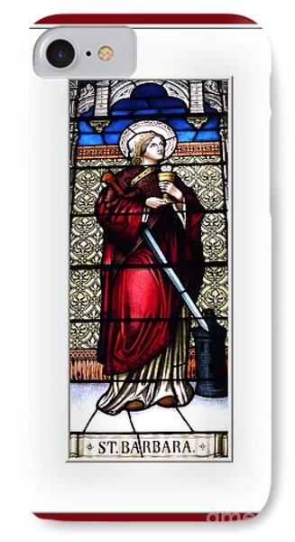 Saint Barbara Stained Glass Window Phone Case by Rose Santuci-Sofranko