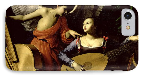 Saint Cecilia And The Angel IPhone Case by Carlo Saraceni