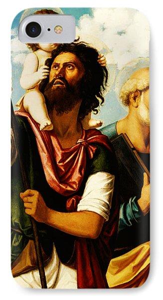 Saint Christopher With Saint Peter IPhone Case