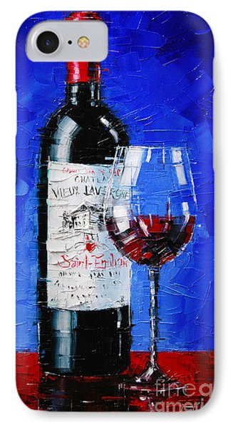 Still Life With Wine Bottle And Glass II IPhone Case by Mona Edulesco
