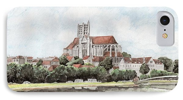 IPhone 7 Case featuring the painting Saint-etienne A Auxerre by Marc Philippe Joly