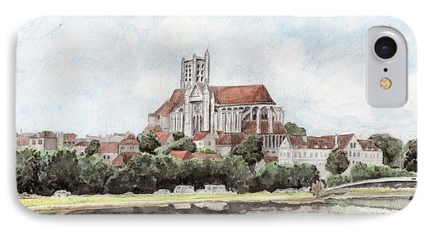 IPhone Case featuring the painting Saint-etienne A Auxerre by Marc Philippe Joly