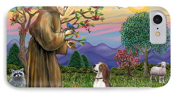 Saint Francis Blesses A Beagle IPhone Case by Jean B Fitzgerald
