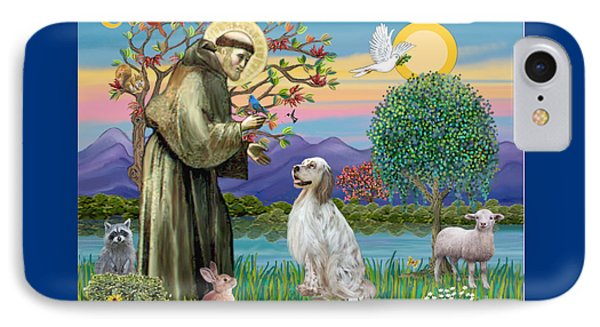 Saint Francis Blesses An English Setter IPhone Case