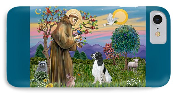 Saint Francis Blesses An English Springer Spaniel IPhone Case