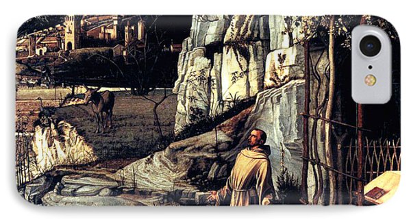 IPhone Case featuring the painting Saint Francis In Ecstasy 1485 Giovanni Bellini by Karon Melillo DeVega