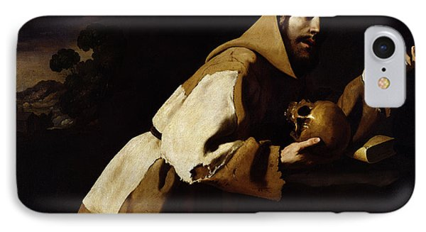 Saint Francis In Meditation IPhone Case