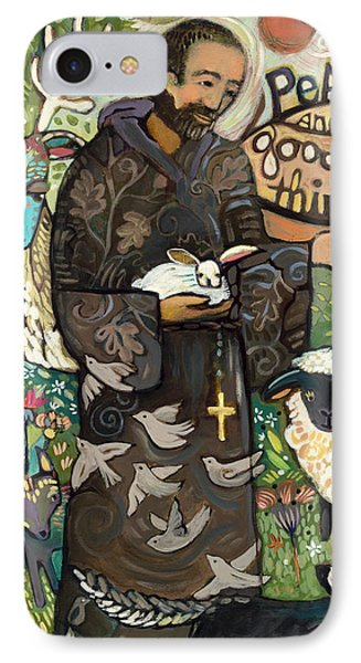 Saint Francis Phone Case by Jen Norton