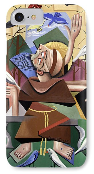 Saint Francis Sermon To The Birds Phone Case by Anthony Falbo