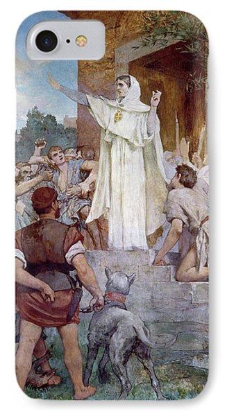 Saint Genevieve Calming The Parisians On The Approach Of Attila IPhone Case