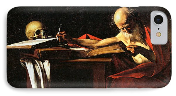 Saint Jerome Writing Phone Case by Caravaggio