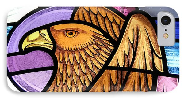 Saint John Eagle  IPhone Case by Gilroy Stained Glass