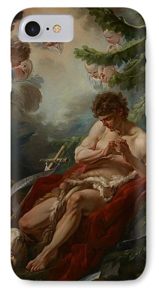 Saint John The Baptist Phone Case by Francois Boucher