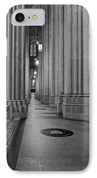 Saint John The Divine Cathedral Columns Bw IPhone Case