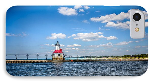 Saint Joseph Lighthouse And Pier Picture Phone Case by Paul Velgos