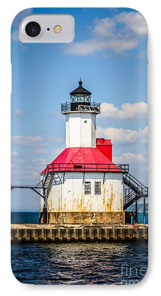 Saint Joseph Lighthouse Picture Phone Case by Paul Velgos
