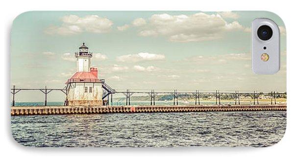 Saint Joseph Lighthouse Retro Panorama Photo IPhone Case
