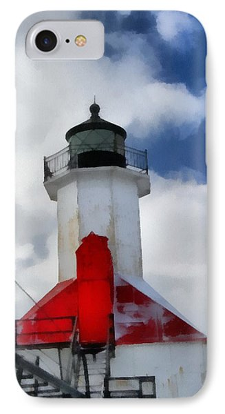 Saint Joseph Michigan Lighthouse Phone Case by Dan Sproul