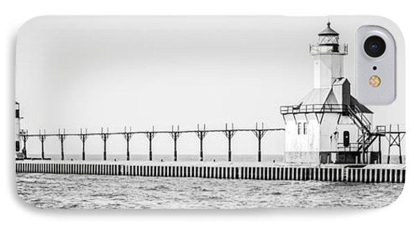 Saint Joseph Michigan Lighthouse Panoramic Photo IPhone Case