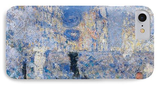 Saint Lazare Station IPhone Case by Claude Monet