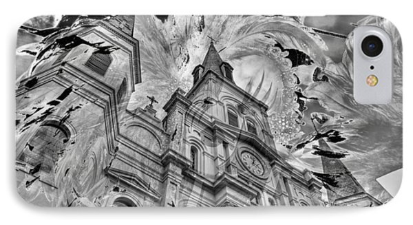 IPhone Case featuring the photograph Saint Louis Cathedral And Spirits by Ron White