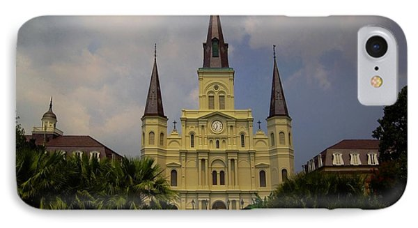 Saint Louis Cathedral Catholic Church New Orleans IPhone Case by Bob Pardue