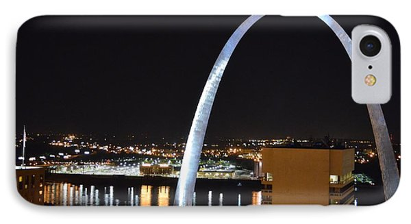 IPhone Case featuring the photograph Saint Louis Skyline And Jefferson Expansion Arch by Jeff at JSJ Photography