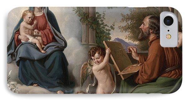 Saint Luke IPhone Case by Theobald Reinhold Freiherr von Oer