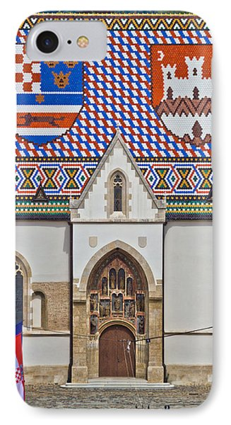 Saint Mark Church Facade Vertical View IPhone Case by Brch Photography