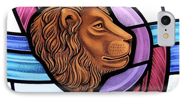 Saint Mark Lion IPhone Case by Gilroy Stained Glass
