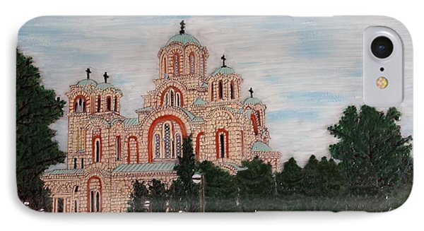 IPhone Case featuring the painting Saint Marko Church  Belgrade  Serbia  by Jasna Gopic