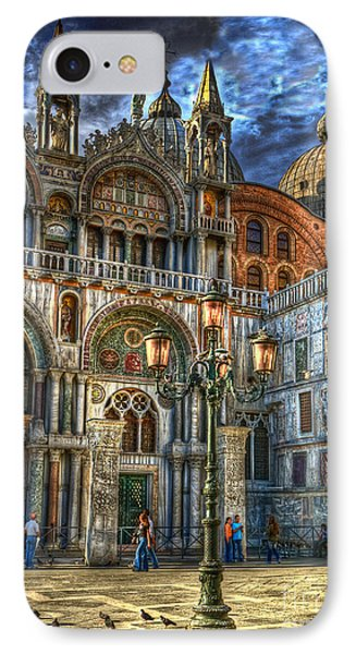 IPhone Case featuring the photograph Saint Marks Square by Jerry Fornarotto