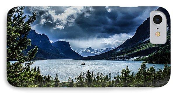 Saint Mary Lake IPhone Case by Jim McCain